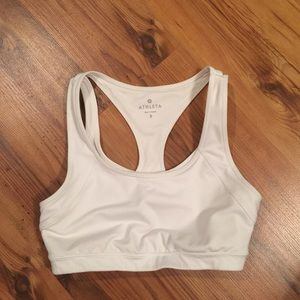 Athleta white athletic bra Sz Small